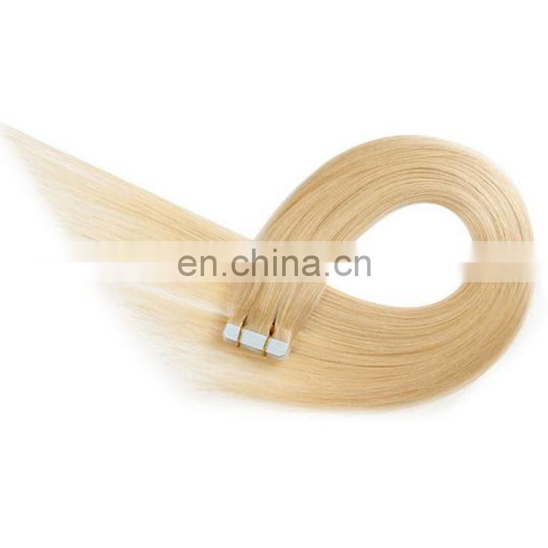 Wholesale softy super sticker 4*1cm wholesale human hair beautiful color and style pu tape hair extension