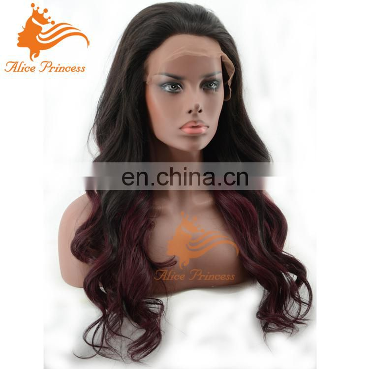 7A Grade Best Quality Custom Wave Glueless Virgin Brazil Human Hair Wig Full Lace Wig