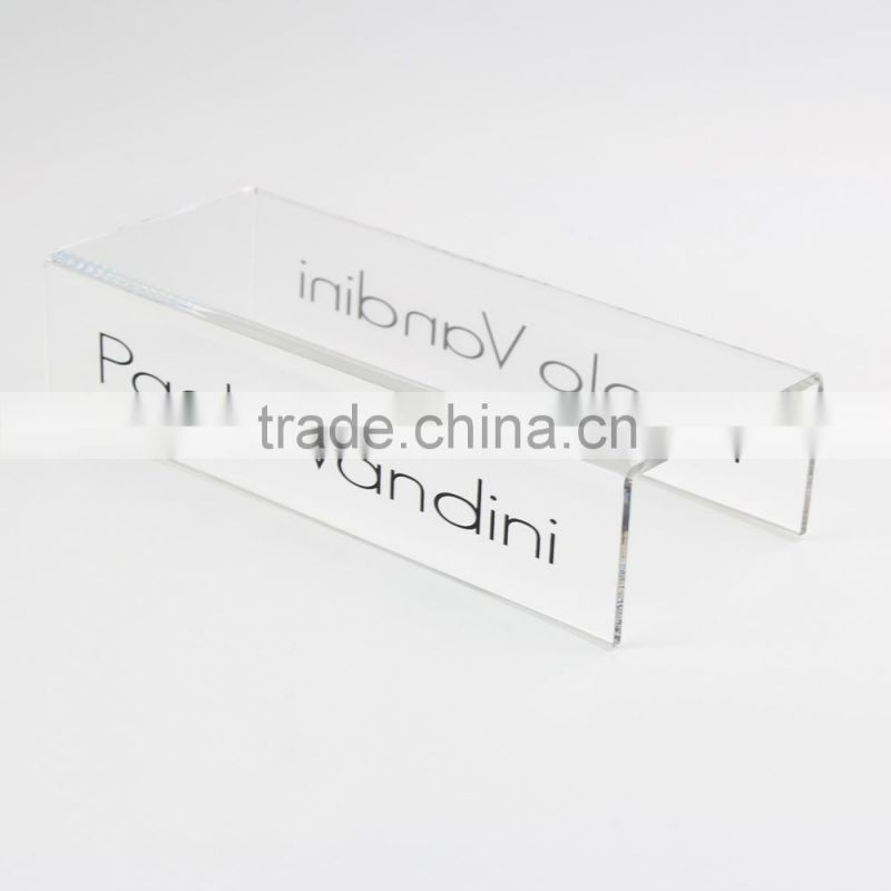 Acrylic Shoe Display Riser Clear Three Layers Shoe Stand Holder Acrylic Footwear Display Stand