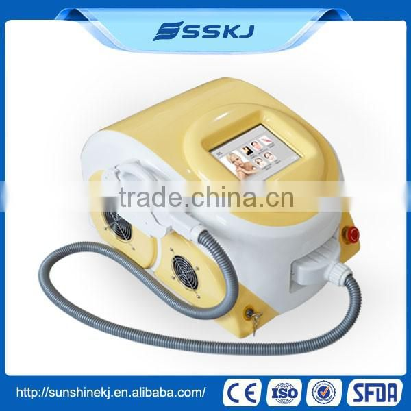 CE approved Big sale Portable 2 IN 1 shr photo epilation with 3000w power