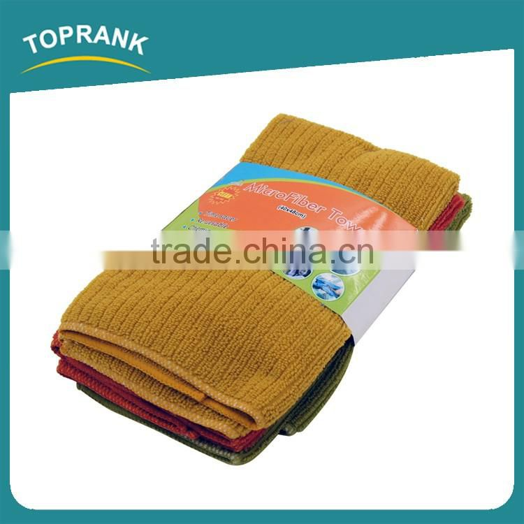 Toprank High Water Absorbent Cheap Wholesale Microfiber Cleaning Car Cloth Towel Kitchen Cleaning Microfiber Towel