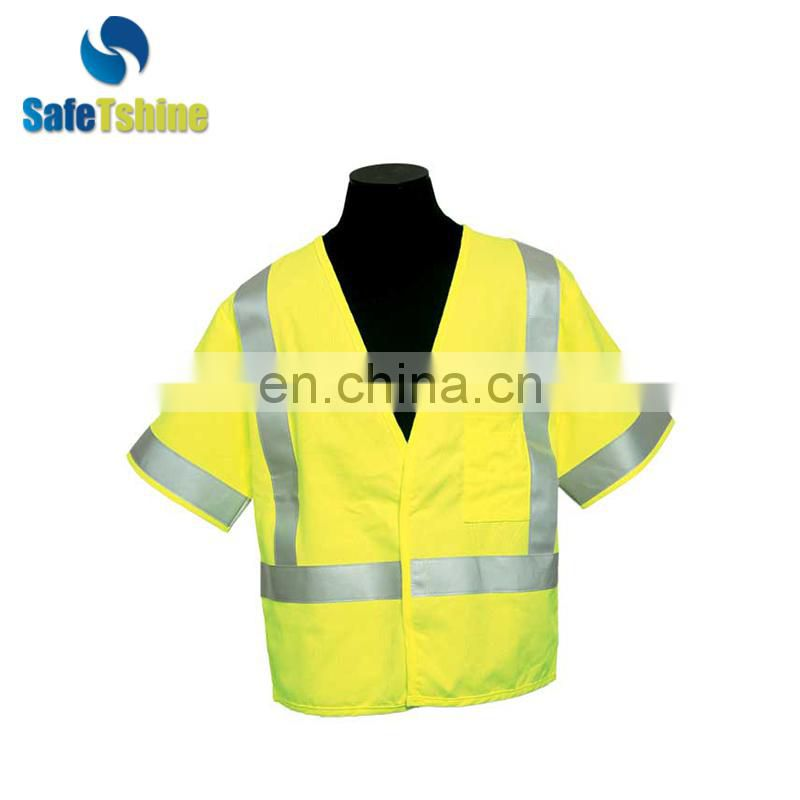 Industrial high quality roadway safety clothes for worker man
