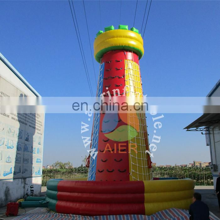 Interesting inflatable climbing tower for sale,Colorful inflatable climbing wall