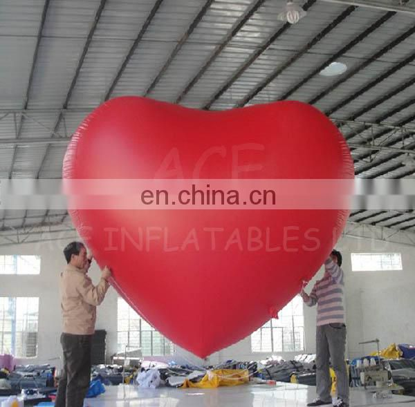 2014 HOT Inflatable red heart helium balloon with high quality