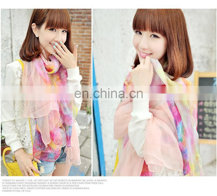 2015Elegant and fashionable women's scarf beach dress autumn pink