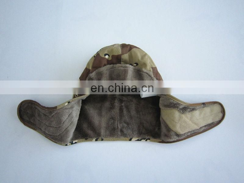 desert camouflage military winter cap