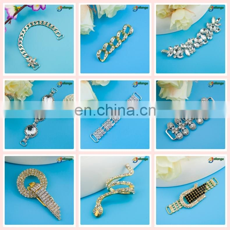 gold wedding chair sash rhinestone buckle
