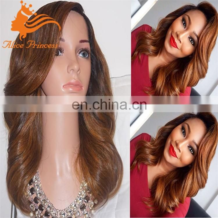 4#blend30# wavy layered wig with bangs 150%density full lace wig with side bangs celebrity wigs for black women