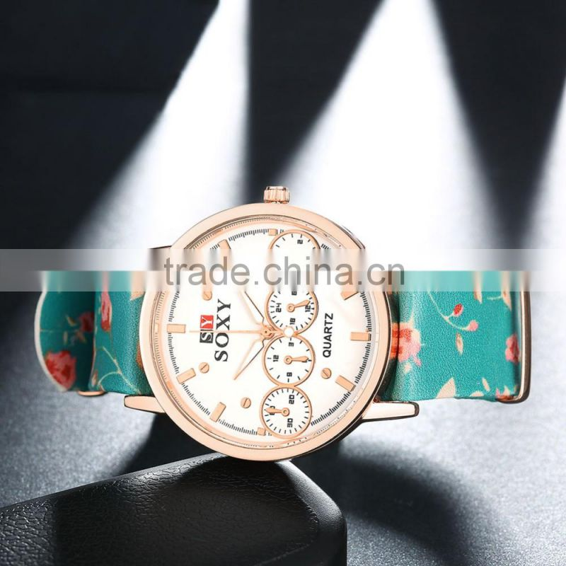 Alibaba china lady wristwatch green fashion watch