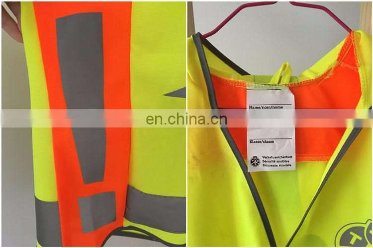 OEM road wearing reflective security kid vest with hat