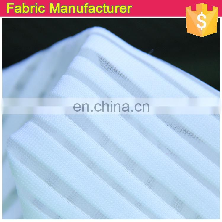 Shaoxing Onway dobby jersey solid fabric, soft jersey fabric,high quality dobby jersey fabric with white