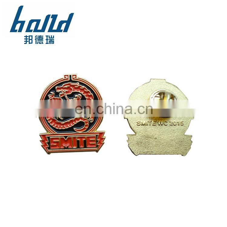 2018 Cheap soft enamel making custom gold lapel pins