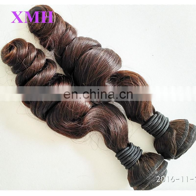 Grade 8A double drawn virgin hair 100% unprocessed brazilian virgin double drawn hair extensions