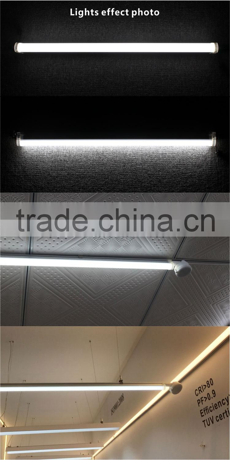 Waterproof IP65 led dimming sensor light,100lm/w led tri-proof light 30w 1200mm with sensor
