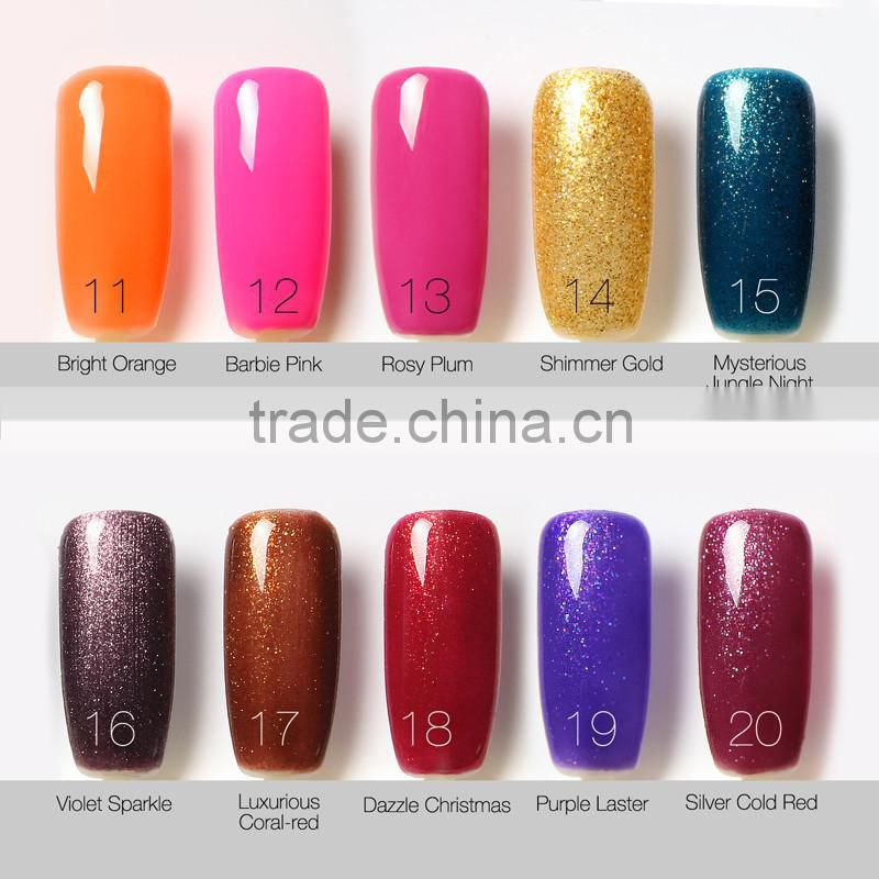Colour Changing Non Toxic Free Sample Uv Gel Custom Nail Polish