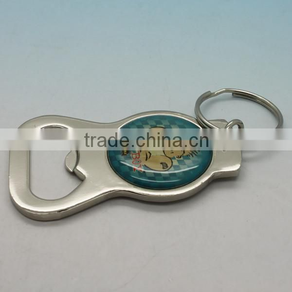 High quality safety Metal Material Bottle opener keychain
