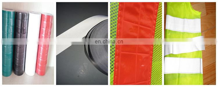 High vis PVC reflective strips safety vest for traffic