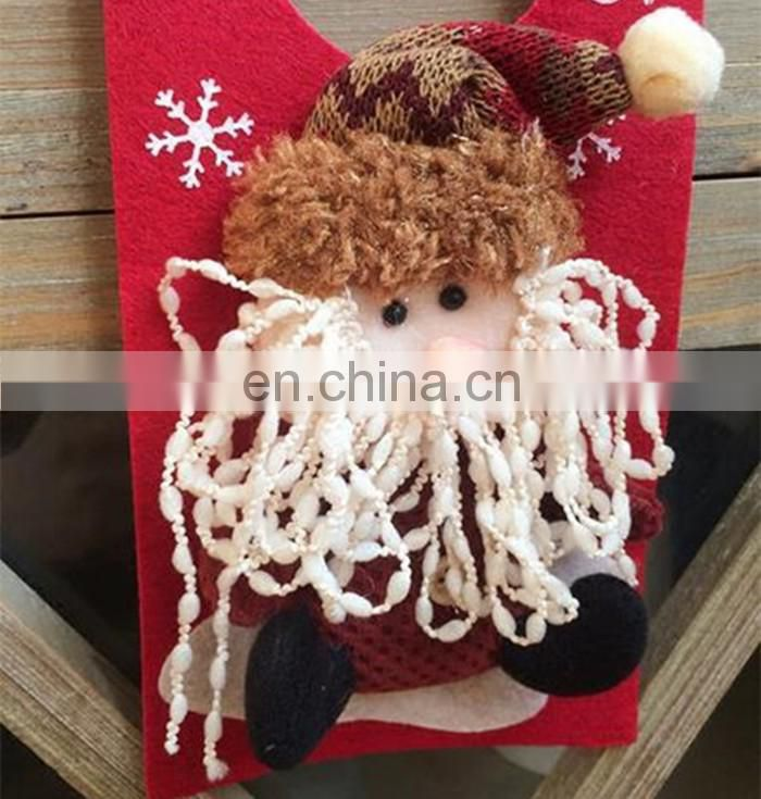 no woven snowman reindeer doll outdoor hanging Christmas decoration toy