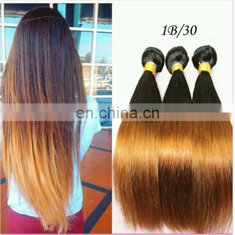 Mixed 2 Colors magic beauty supply peruvian Two Tone Ombre Hair extension peruvian ladies silk straight human Hair Weave weft