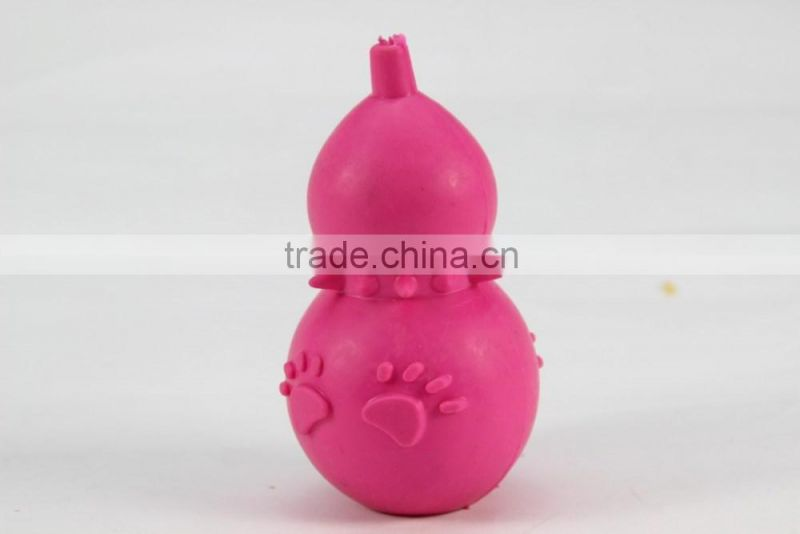 Bottle gourd thermoplastic rubber pet toy for dogs and cats chew dog supplies