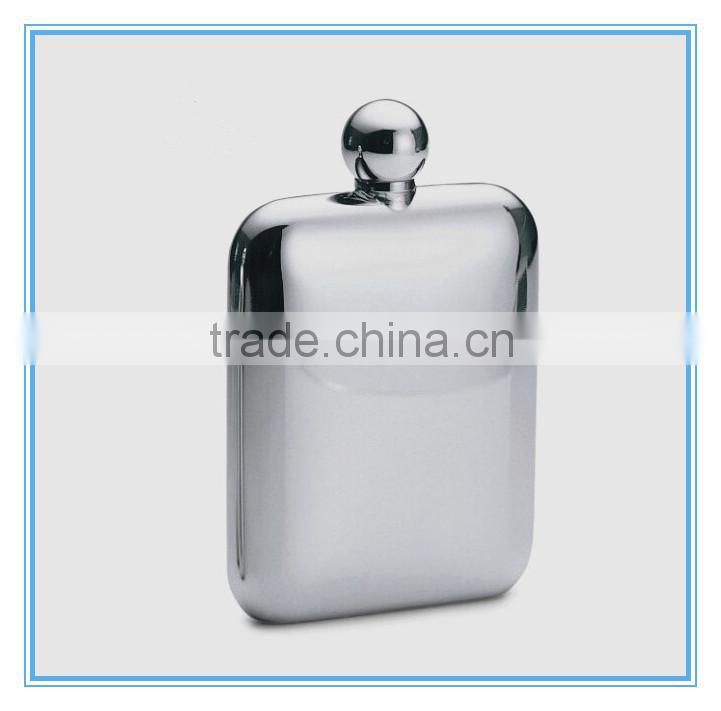 Laser welding 6oz stainless steel hip flask/hot selling 6oz seamless welding hip flask for promotion