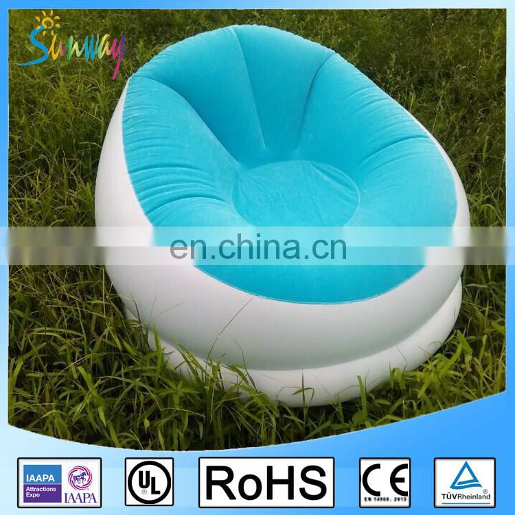 Sunway Inflatable Sofa for FamilyInflatable Flocking ChairInflatable Pillow Chair Sofa