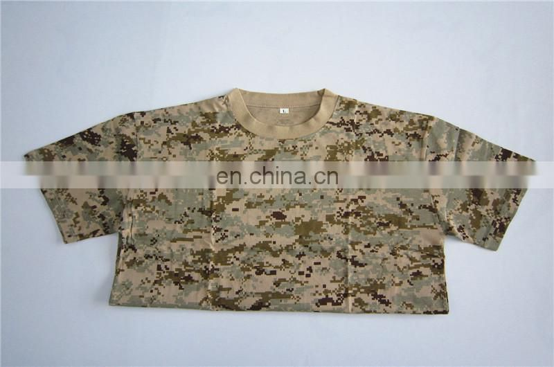 libya camouflage short sleeve military undershirt