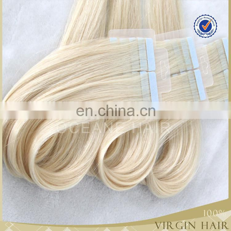 #613 blonde wholesale virgin brazilian hair tape in hair wholesaler brazilian hair