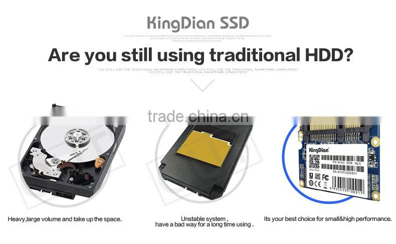 Original Brand KingDian Hard Disk 16GB Half slim sata2 scrap hard drive Solid State Drive SSD (H100 16GB)