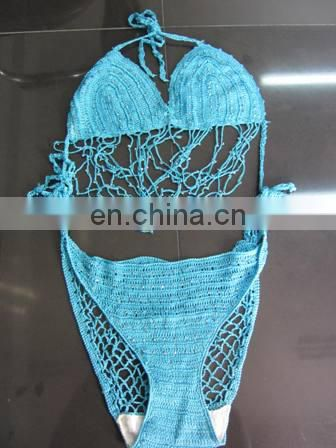 Missadola knitted one piece Crochet swimsuit