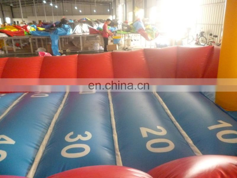 inflatable basketball game /high quality inflatable sport games /busketball field with bungee run