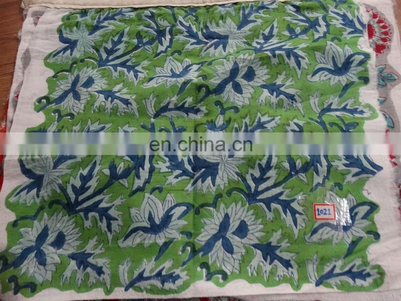 100% Cotton Natural Print Hand Block Printed Fabric