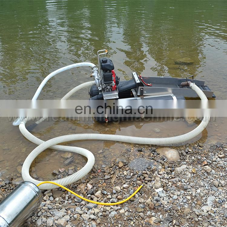 Hot sale small mini portable gold dredge boat for sale/gold mining dredge