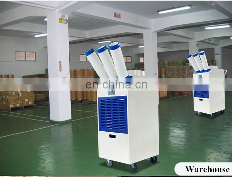 Powerful portable spot cooler industrial with movable wheels and 15 L big water tank