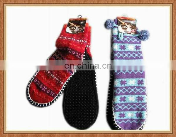 Acrylic knitted shoes
