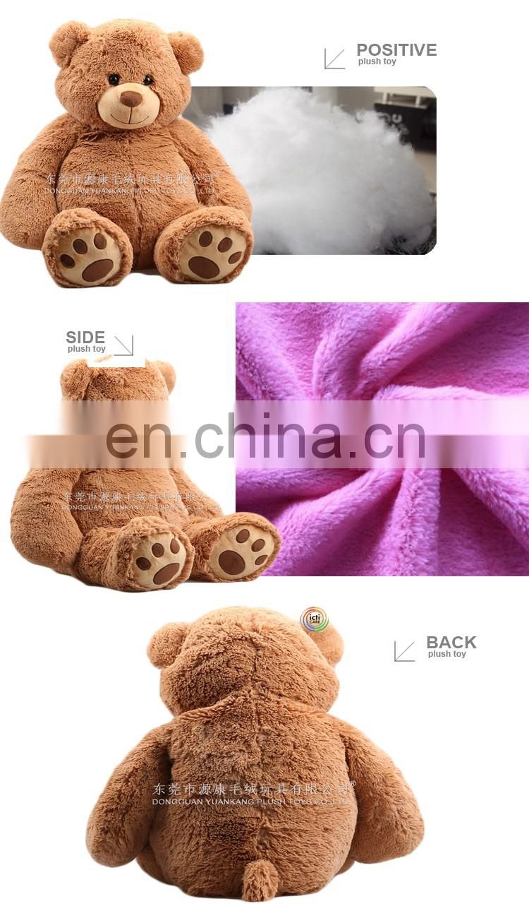 China manufacture brown 2meter big cute bear teddy