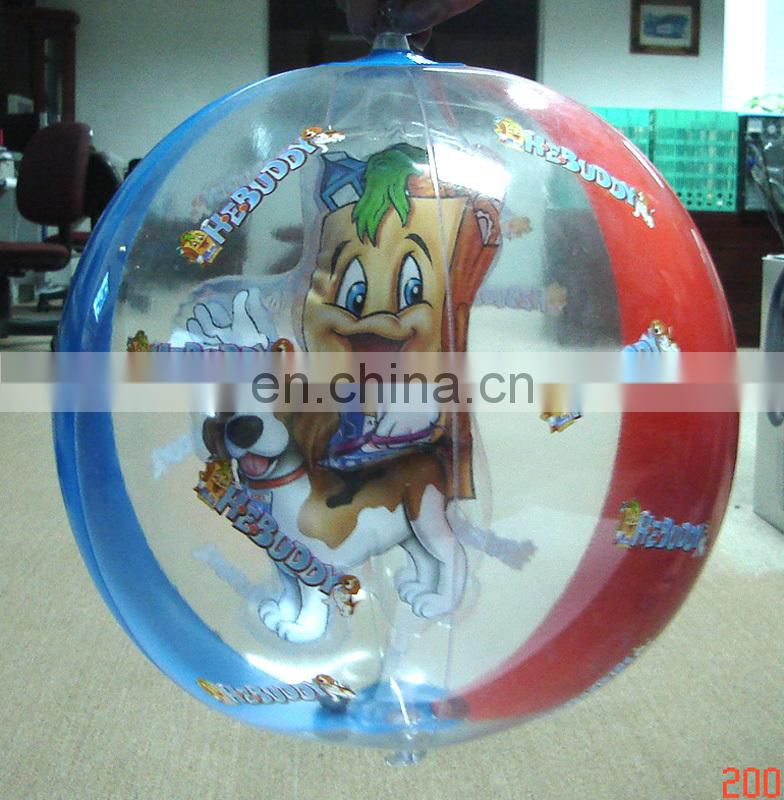 clear pvc inflatable beach ball, inflatable beach ball for promotional , inflatable waterball