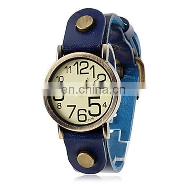 2014 Yiwu Manufacturer Directly Sale Genuine Leather Watch