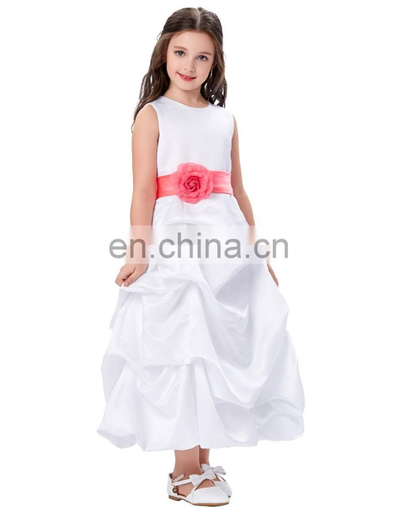 Grace Karin Flower Bow-Knot Decorated Princess Bridesmaid Wedding Pageant Party Dress Flower Girl Dress 2~12 Years CL010430-1