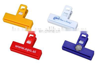 Promotional round shaped magnetic memo clip