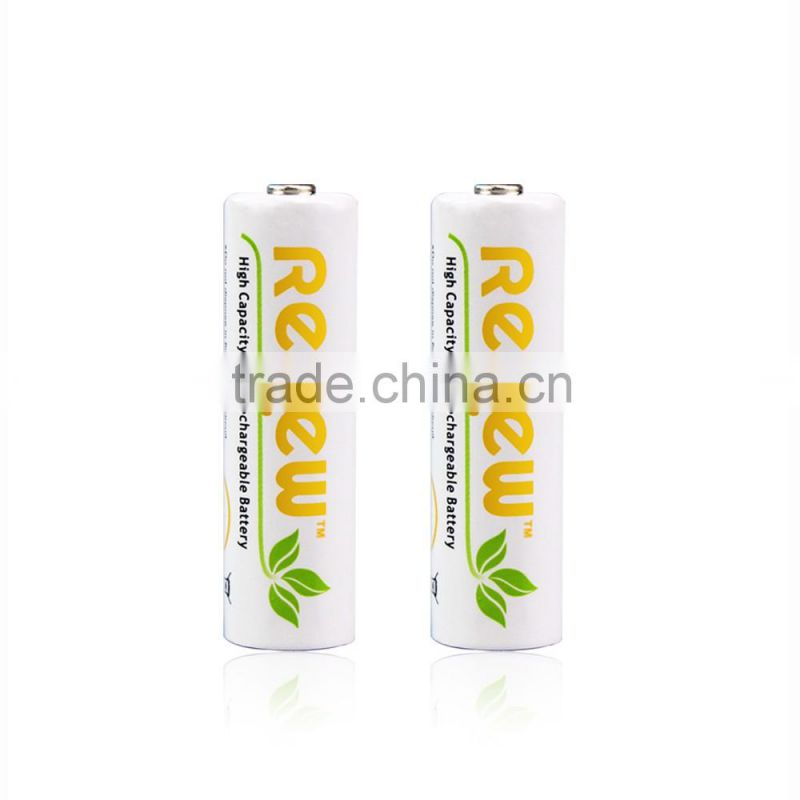 RENEW 12 Pack AA 2950mAh Ni-MH Rechargeable Batteries with Battery Storage