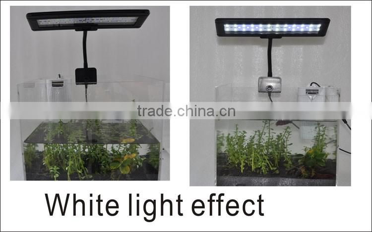 Zhongshan Factory sale aquarium accessories china fish tan ornamental lamp glass bule white RGB+ controller clip light