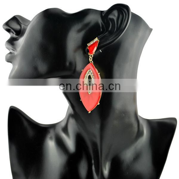 fashion 2014 silver rhinestone drop earrings