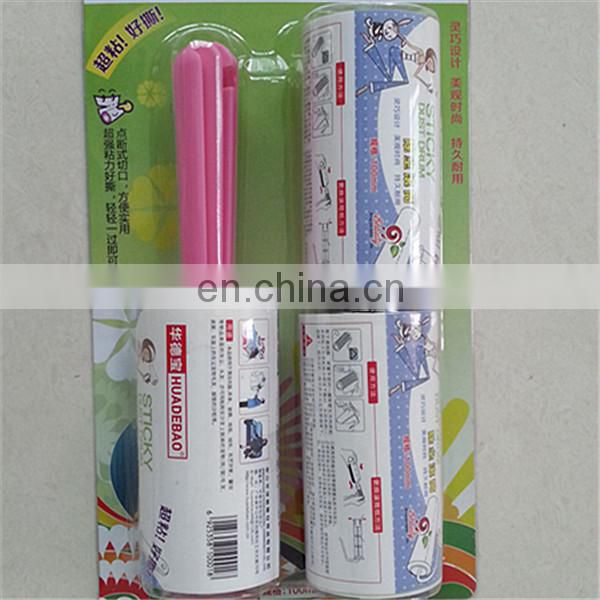 PE adhesive sticky roller tacky roller for clean hair, scurf