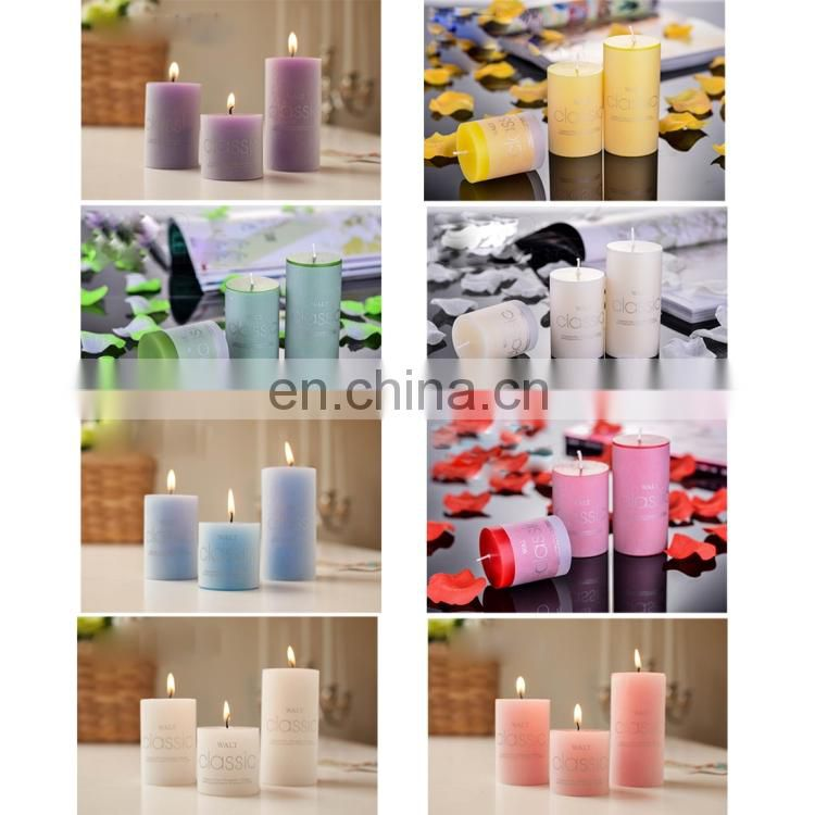 2 PCS Cylindrical Candles Home Wedding Decoration Round Craft Aroma Candle christmas lights