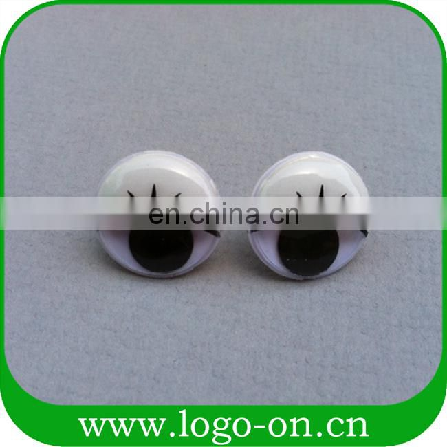 New fashion googly eyes with eyelash for toy making safety eyes for toys