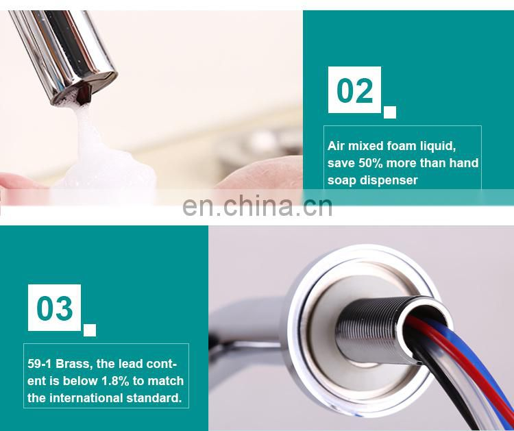 Electric smart auto touchless infrared industrial hospital automatic hands free sensor stainless steel foam soap dispenser