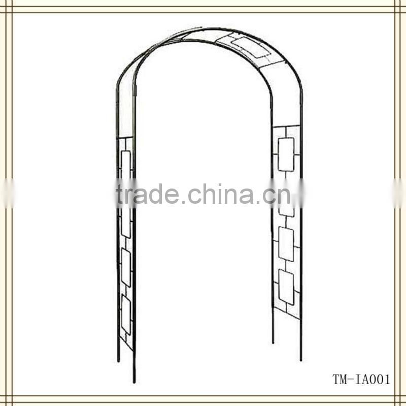 Hot sale black wrought irongarden arches