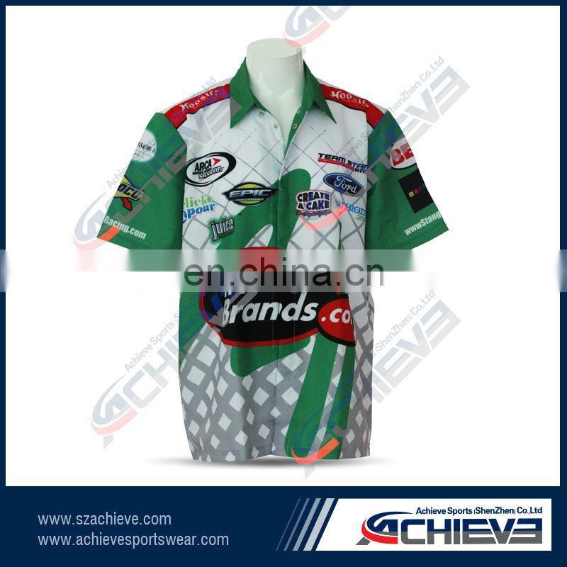 1d37a7d1d ... custom design dye sublimation racing motorcycle polo shirt racing pit  crew shirt wholesale