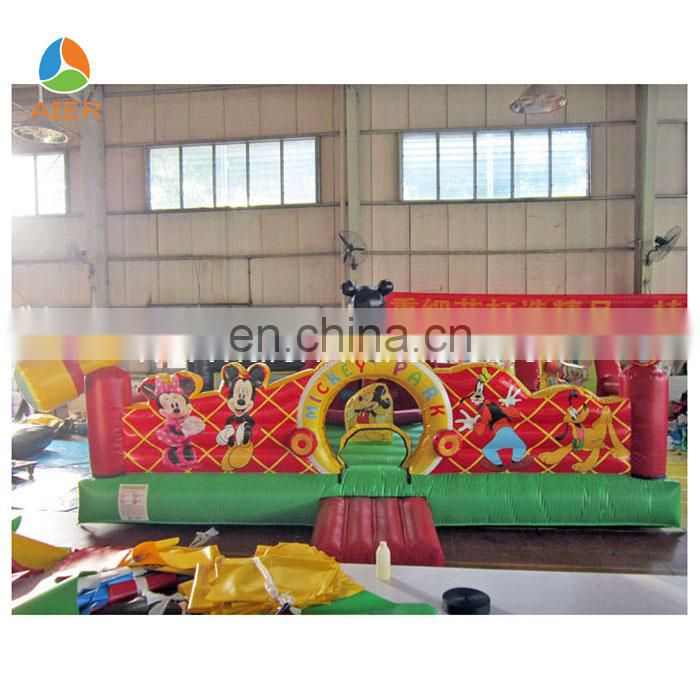 Mickey learning club amusement park funland inflatable bouncer